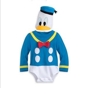 NWT. Donald Duck onesie and hat.